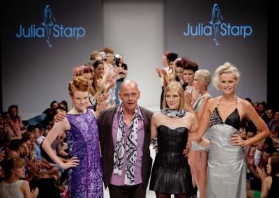 Models walking for fashion designers
