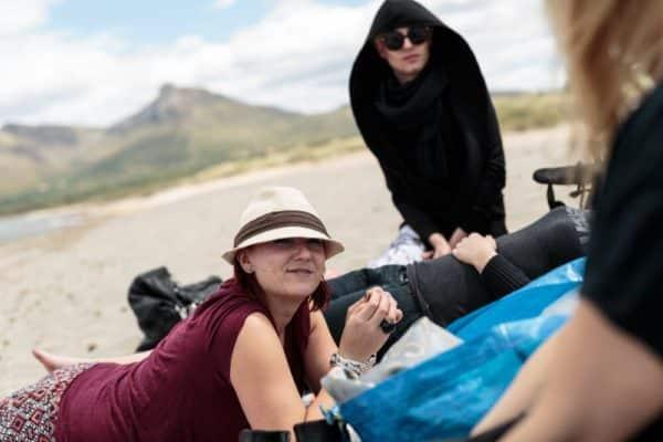 Photographer Mallorca - Photo team relaxes at the beach